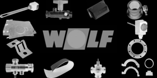 WOLF 2484333 Verkleidung hinten oben inkl.Befestigungsmaterial 390mm, Weiß