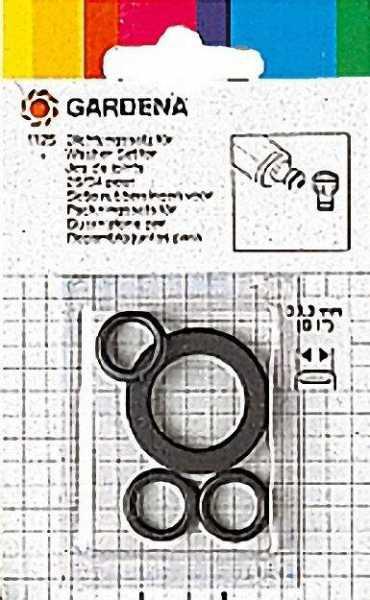 GARDENA Dichtungssatz für 3/4'', bestehend aus 1 Flachdichtung + 3 O-Ringe für Art.: -Nr. 92 080 22