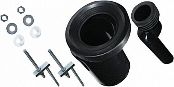 WC-Anschlussgarnitur etagiert um 25mm DN 90