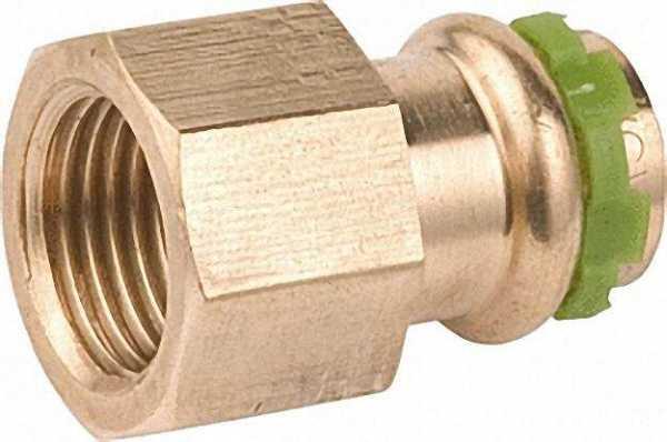 Rotguß-Pressfitting Übergangs-Muffe, IG, VC4270G 16mm x 1/2''