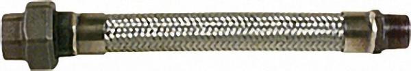 Ringwellschlauchleitung aus Edelstahl mit Gewindeanschlüssen R 3/4'' Länge 500mm