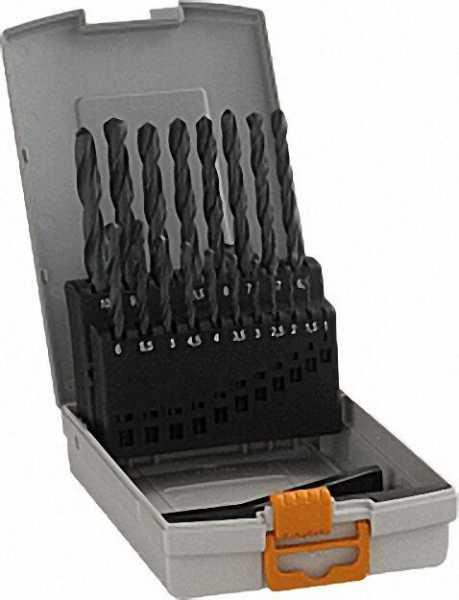 HSS-Spiralbohrer-Kassette Durchmesser 1-10 x 0,5mm, 19-teilig, Kunststoffkasette