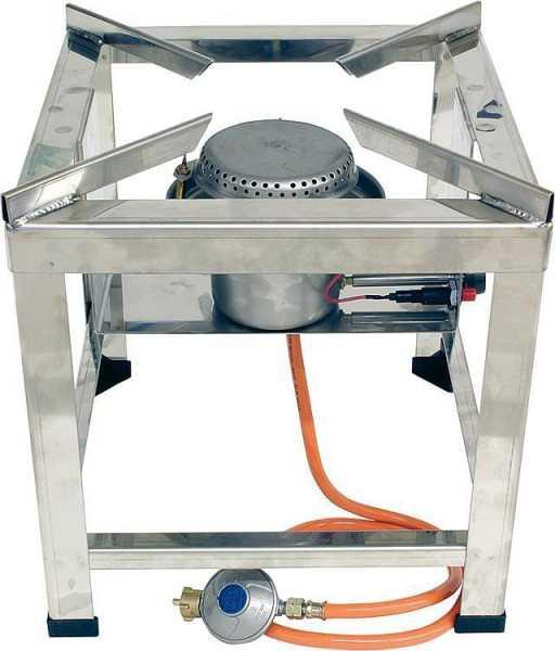 Hockerkocher 10 kW, Edelstahl