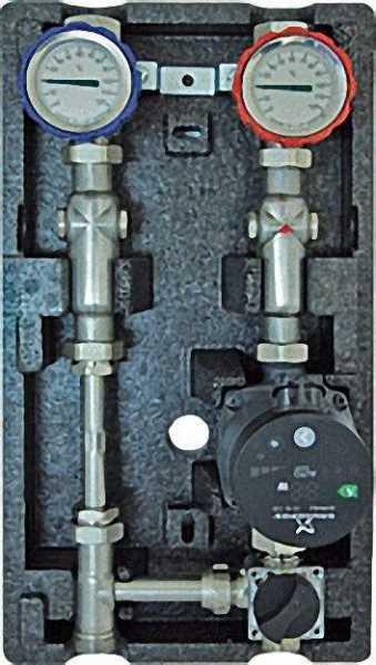 STRAWA 72-007015 Aufbaugruppe Typ MK3 für 1 geregelten Heizkreis mit Dreiwegemischer 1''
