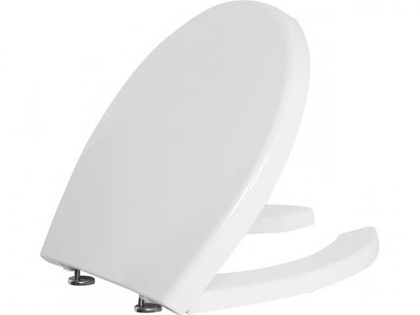WC-Sitz Elida aus Thermoplast weiß, mit Softclose, BxHxT 380x30x450mm