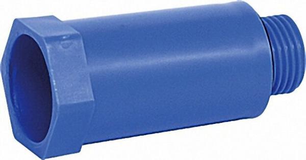 Baustopfen 1/2'' mit Kunststoffgewinde blau