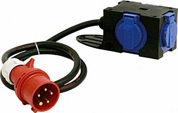 CEE-Adapter, 16A/Schuko 1,5m Zuleitung