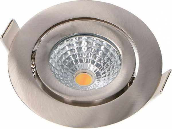 LED Einbaustrahler, nickel 230V, 7W, 350lm, 2000-2700K Einbaud.: 68mm / Außend.: 82mm
