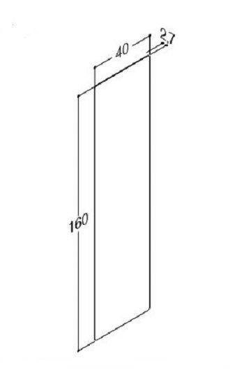 DANSANI 91611 Spiegel mit abgerundeten Ecken ohne Sensorschalter B-40 cm, H-160 cm