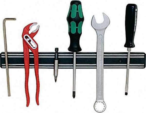 Werkzeughalter aus Kunststoff Abmit 300 x 33mm Farbe schwarz, 1 Stück
