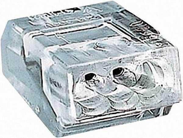 Verbindungsdosenklemmen 273 3-Leiter-Klemmen, transparent 3x0, 75-1,5mm², VPE=100