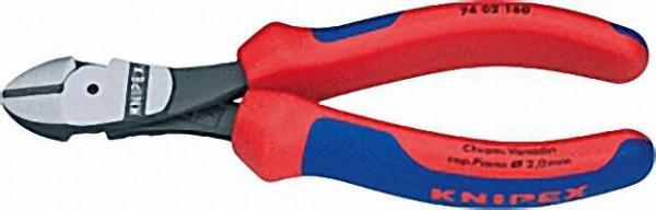 Kraft-Seitenschneider poliert mit zweifarbigen Mehrkomponenten Griffhüllen Länge 200mm