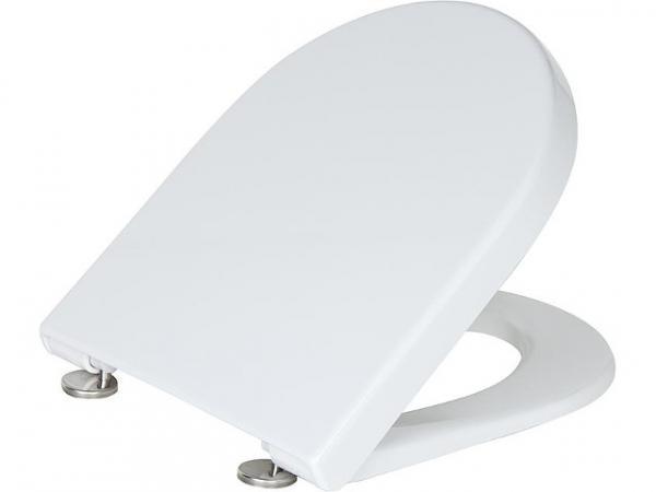 WC Sitz Duravit Starck 3 Softclose, weiß, mit Edelstahl-Scharnier, BxHxT 380x30x383mm