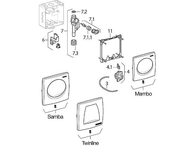 geberit befestigungsrahmen zu geberit urinalsteuerung basic. Black Bedroom Furniture Sets. Home Design Ideas