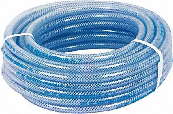 PVC-Schlauch transparent mit Polyestergewebe / Lebensmittelecht 100m/20bar/8x14mm/-20°- +60°C