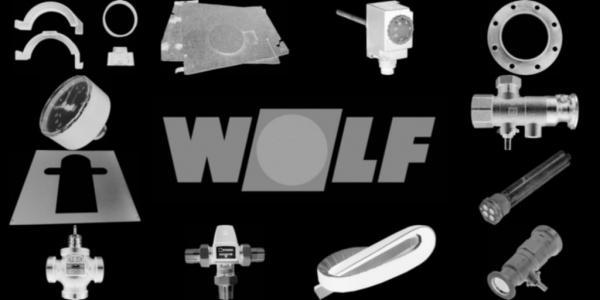 WOLF 3450960 Spiralformschraube mit Scheibe M8x18