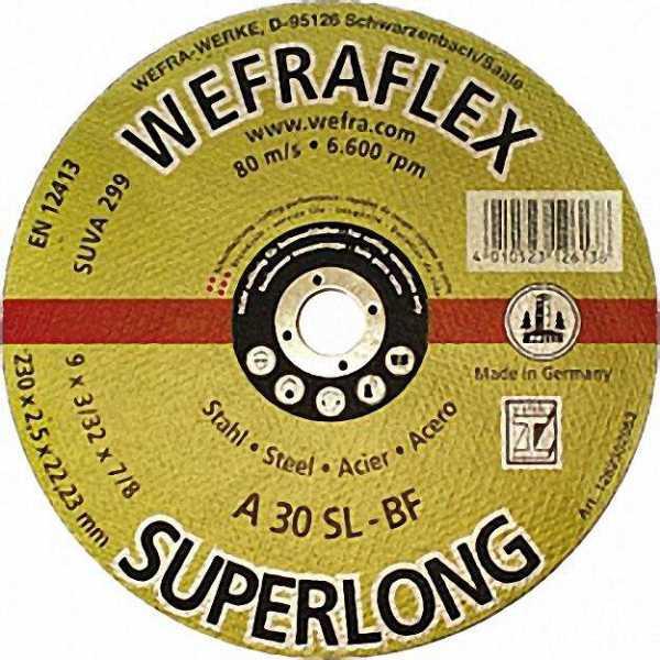 Trennscheibe Super-Long gerade für Stahl 125 x 2,5 x 22mm