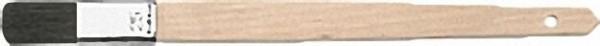 Pr. -Plattpinsel gerade 20mm KANA schwarz, Buchenstiel, Weißblechzwinge