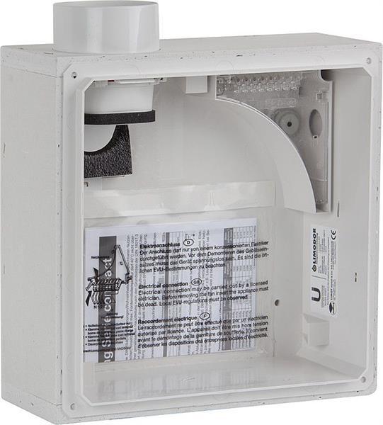 LIMODOR Unterputzkasten compact/BR Abluftstutzen DN80 seitlich