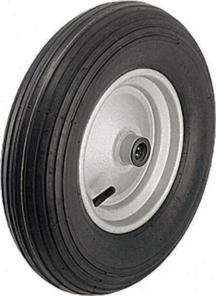 BLICKLE Luftreifen mit Rillenprofil P 401/25-90R, Tragfähigkeit 250 kg Rad D= 400mm, Achsloch D= 25m
