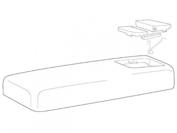 Spülkasten-Deckel Corallo 2-Mengen-Spülung weiß