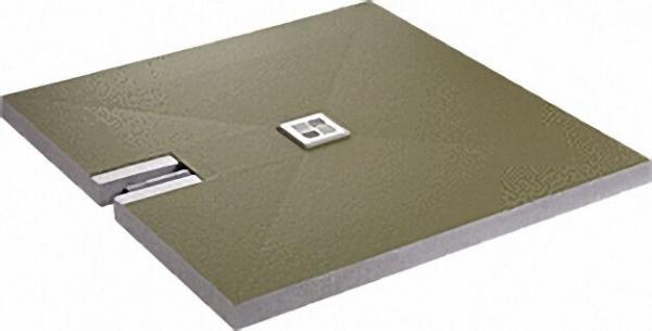 Bodenebenes Duschelement superflach Ablauf waagrecht, zentriert 1200x1200x70mm, Einbauhöhe 70mm