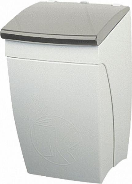 Abfallbehälter aus Nylon Farbe: Weiß 19 HxBxT:360x225x225 /inkl Befestigung