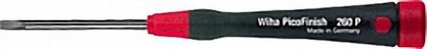 WIHA PicoFinish Schlitz-Schraubendreher Griff mit Drehkappe und Schnell-Drehzone Typ 260P, 3, 5 x 60