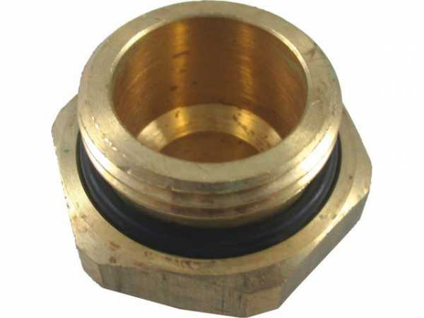 WOLF 2009025 Fitting Doppelnippel reduziert G 1' AG-G 3/4' AG aus Messing mit O-Ring