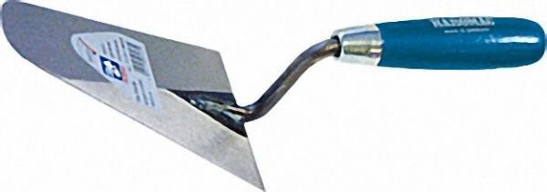 Italienische Kelle, abgerundet 180mm Stahl, gehärtet blaues Heft