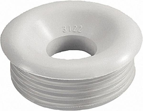 Gummi-Spülrohrverbinder hell für Druckspülrohr D 28/32mm Anschluss=55mm/ mit Rosette