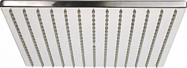 EVENES Ultraflache Kopfbrause Edelstahl gebürstet 300x300mm ohne Brausearm