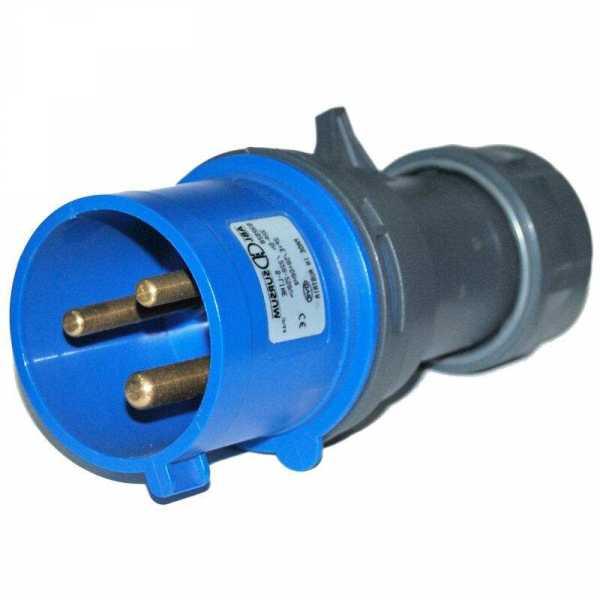 CEE-Stecker 230 V blau/grau