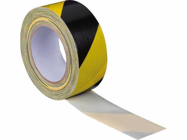 Gewebe-Markierungsband 50x25m Gelb/Schwarz Gewebe