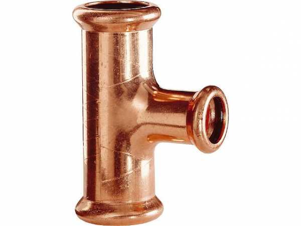 Kupfer Pressfitting T-Stück D: 22mm Typ 7130