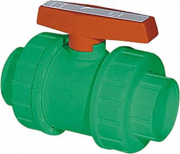 PPR Rohr Aqua-Plus absperrbarer Kugelhahn d = 25mm