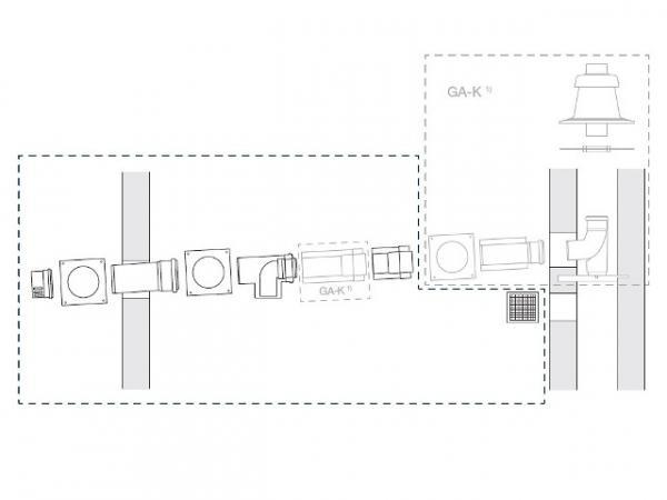 Buderus Abgassystem Grundbausatz GAL-K, Ø 80/125 mm, 7738112552