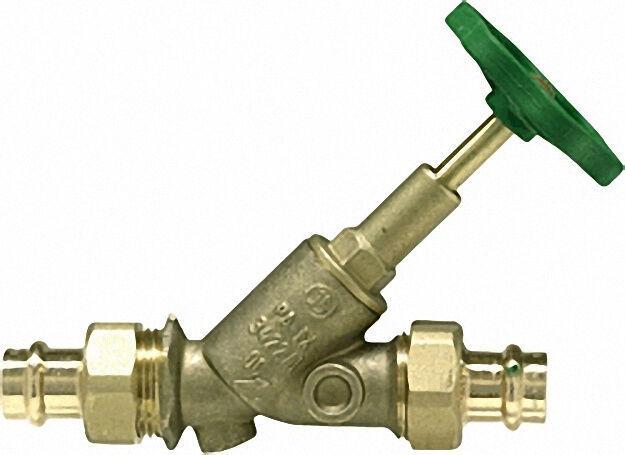 Schlösser Freistromventil mit Pressverschraubung-Viega DN 20/22mm stei