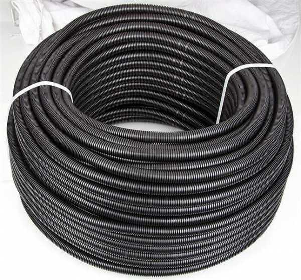Kunststoffwellrohr Easy RIL-U 2232, biegsam, schwarz