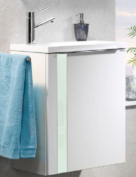 LANZET 7273312 VEDRO Waschtischunterschrank: + Becken 49x60x32 rechts weiß/mint, 1 Tür