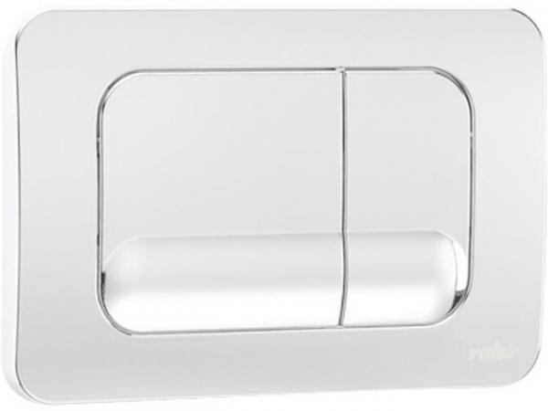 VALSIR Betätigungsplatte 2-Mengen zu Winner-2 Kunststoff Betätigung von vorne weiß