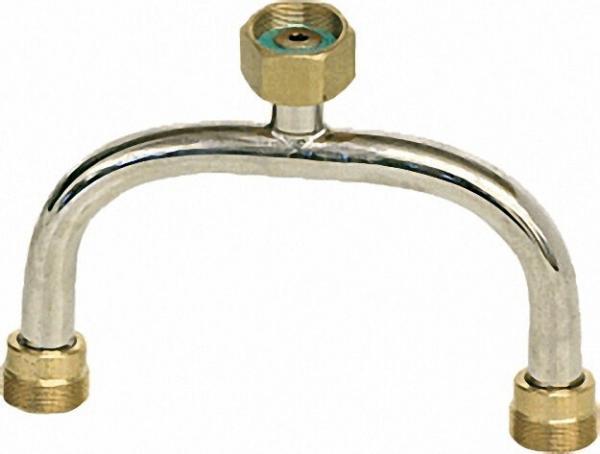 Verteilerrohr (Stahl verchr. ) M20 x 1a / 2-fach