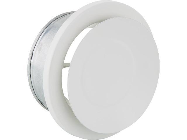 Tellerventil NW 100 für Zu- und Abluft Metall weiß