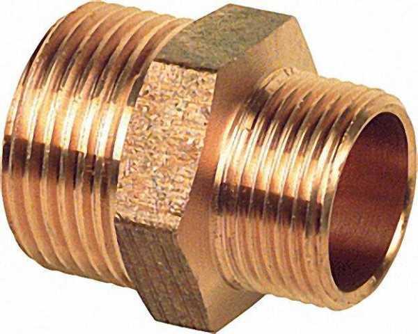 Rotguß-Gewindefitting Doppelnippel reduziert Typ 3245 1'' X 3/4''