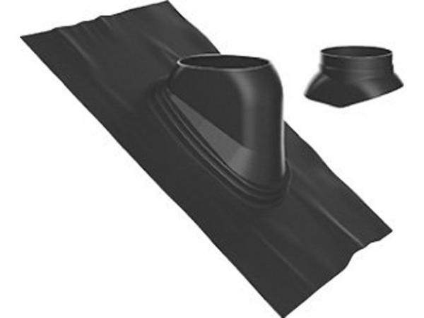 Buderus Universal-Dachziegel, Ø 125 mm, 35 °–55 °, schwarz, Regenkappe, 7738112512