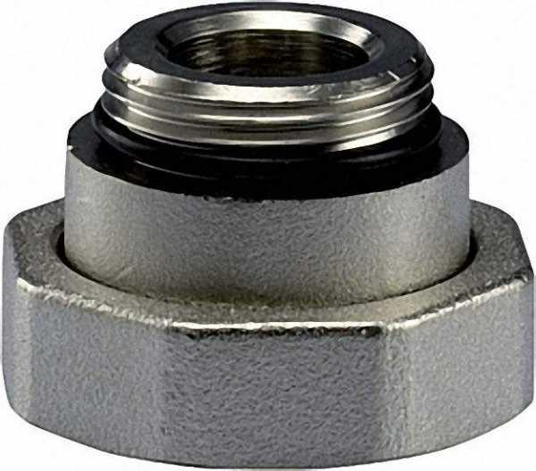 Anschlussverschraubung 1 1/2''IG x 1''AG mit Weichdichtung für Pumpenanschluss