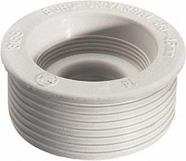 Euro-Universal-Gummi-Spülrohrverb. für Euro-Klosett-Anschluss D 55mm ohne Rosette, hell