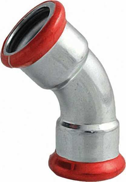 C-Stahl Pressfitting Bogen 45° (i/i) 18mm