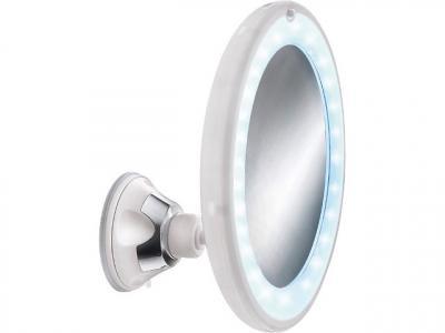 Befestigung Wandkosmetikspiegel Ermete LED Messing verchromt d 200mm inkl