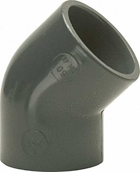 PVC-U - Klebefitting Winkel 45°, 32mm, beidseitig Klebemuffe